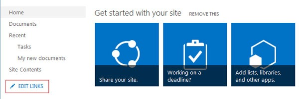 SharePoint Quick Launch