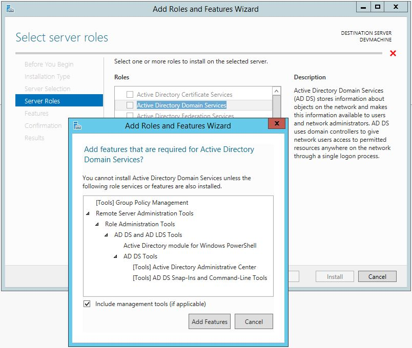 Active Directory Domain Services Windows Server 2012 R2