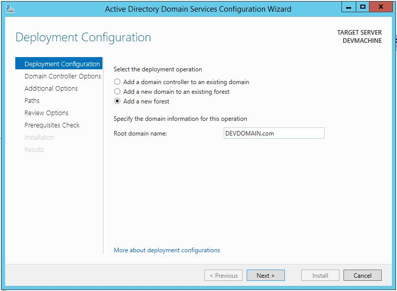 Promote Server 2012 R2 To Domain Controller (FQDN)