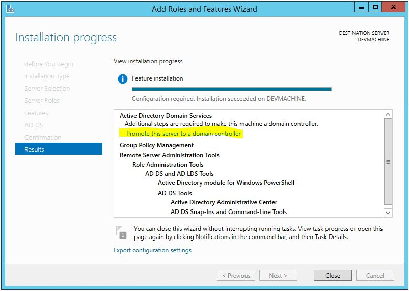 Promote Server 2012 R2 To Domain Controller