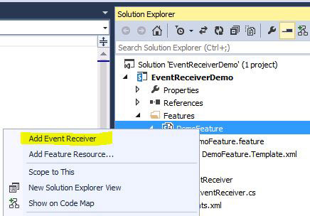 Add Feature Event Receiver