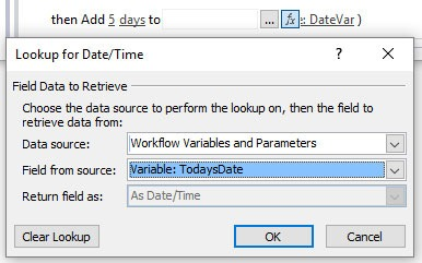 Add Time To Date SharePoint Workflow