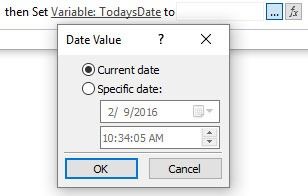 Set Date Value To Current Date