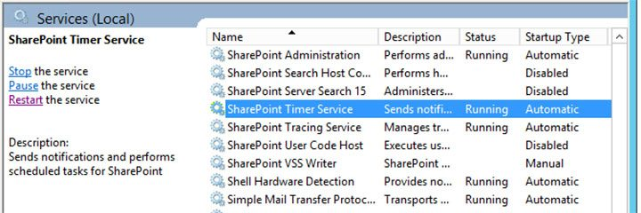 Clearing the SharePoint configuration cache
