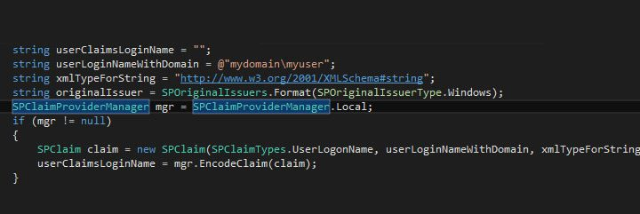 Convert SharePoint login name to claims format