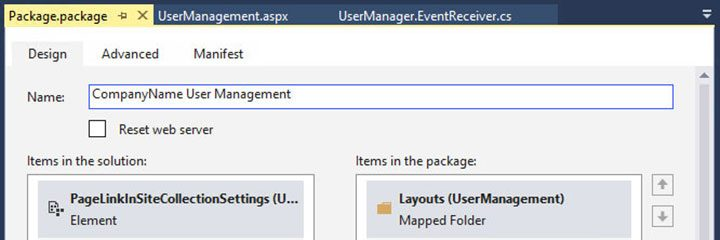 Renaming the output wsp SharePoint