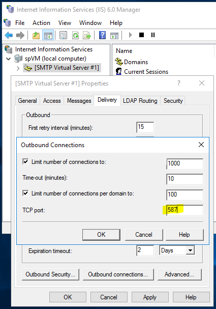Sending Emails From SharePoint - SMTP Outbound Connections