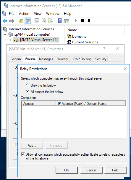 Sending Emails From SharePoint - SMTP Relay Restrictions