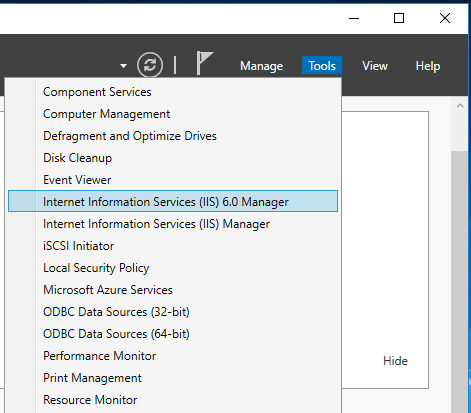 Sending Emails From SharePoint - Starting IIS Manager 6.0