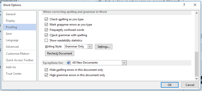 Proofing In Word